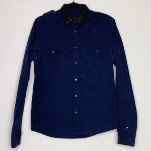 Gucci Cotton Poplin Duke Shirt W/ Leather Collar